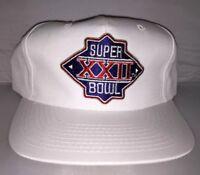 7c3ea8375bc Vtg Superbowl XXII Sports Specialties Snapback hat cap 80s NFL Football  Redskins
