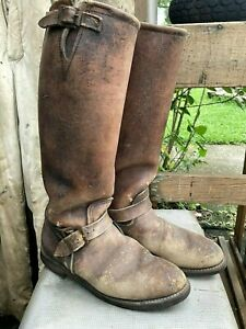Vtg Red Wing Heritage Snake Engineer Boots by Russ Boot Co
