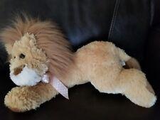 Boyds Bears & Friends Plush Soft Floppy Lion Breast Cancer Pink Ribbon stuffed
