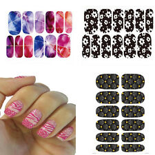 Nail stickers adesivi unghie intere water transfer decals tattoo nail art  4 cf