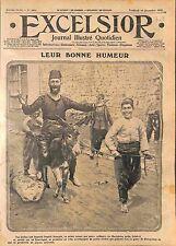 Poilus Bourriquet Mule Macédoine Macedonia Serbia People Peuple Serbie  WWI 1915