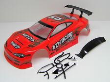 """RC CAR KAROSSERIE 1:10 """"NISSAN S15"""" ROT, DRIFT 190mm BREITE # HX011R"""