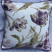 "Shabby chic cushion cover laura ashley Gosford Plum 16""  piped  Plum"
