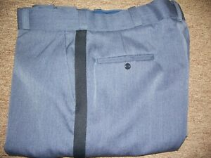 Flying Cross 32264 Air Force Blue with navy stripe Uniform pant Poly/Wool wi sap