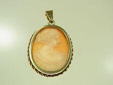 Schöner Kamee Anhänger 585 Gelbgold mit schöner antiker Frauenansicht