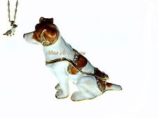 Jack Russell Dog Bejeweled Trinket Box