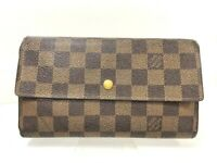 Louis Vuitton Portefeuille International Damier Long Wallet N61215 France Y-1055