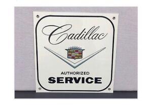 Retro Style Cadillac Service Motor Oil Gas Garage Sign