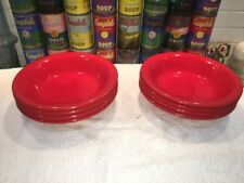 (4) Vintage ISG POTTERY Red Ceramic Individual Pasta Soup Bowls Italy