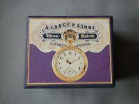 """Handgefertigt Taschenuhr Box """"A. Lange & Söhne"""" Uhrenboxen Uhren Schatulle"""