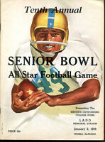 1959 Senior Bowl Program All Star Football Classic Ex Condition