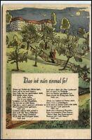 "Künstlerkarte ""Das ist nun einmal so!"" um 1920/30 Musikverlag Wilke Berlin"