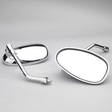 Chrome Motorcycle Rearview Side Mirrors For Honda Cruiser Rebel Shadow VTX 10mm