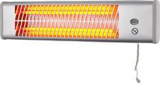 1200W Chrome Pullcord Bathroom Waterproof IP21 Rating Strip Wall Heater Heller