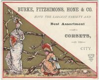 Aesthetic Movement Style Ladies Women's Corsets Fashion Victorian Trade Card