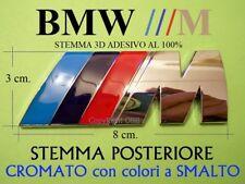 BMW M M2 M3 M4 M6 X5  Stemma ALLUMINIO CROMATO Badge Logo Emblema Fregio Scritta