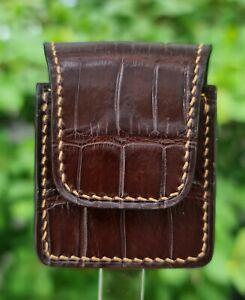 Genuine Alligator Leather Lighter Pouch Holder Case Pocket Belt Loop