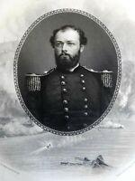 Quincy Adams Gilmore Union General 1864 Virtue Civil War military portrait