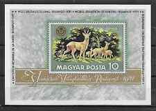HUNGARY - MAGYAR POSTA - 1971 -- HUNTING & FISHING WORLD EXHIBITION - Sou. Sheet