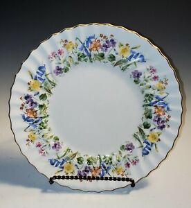 Royal Doulton EASTER MORN Dinner Plate(s) ca 1940-59 Flowers Swirl Rim EXCELLENT