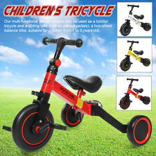3in1 Trike Tricycle for 1-3 Years Old Toddler Kids Balance Bike  Adjustable Seat