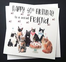 CAT Lovers Birthday Card Sister Friend Auntie Daughter 18th 21st 30th 40th 50th