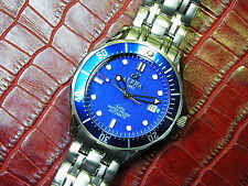 ALPHA WATCH BLUE SEAMASTER STAINLESS STEEL AUTOMATIC WATCH *Ebay Lowest Price*