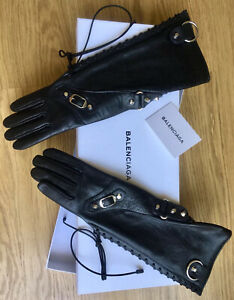 BALENCIAGA - Gants Cuir T.7 - NEW - Leather Black Gloves Size 7 - Demna Gvasalia