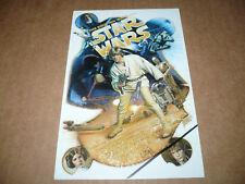 STAR WARS 10th anniv, nr mint postcard (Drew Struzan art)