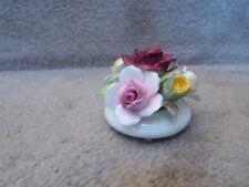 "Vintage Royal Doulton Bone China England Miniature Flowers Bouquet Figurine 2.8"""