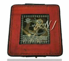 Antique Brass Maritime Nautical Working Sextant With Marine Leather Box New Gift