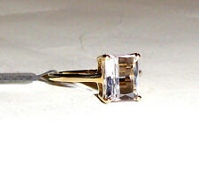 10K Yellow Gold Pink Kunzite Octagon Solitaire Ring, Size 7, 2.78(TCW), 1.88GR