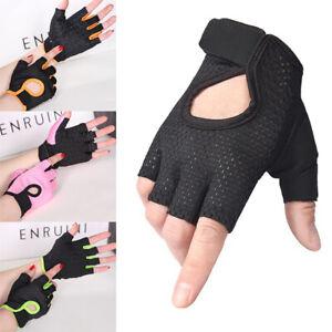 1 Pair Training Hiking Half Finger Men Women Weightlifting Gloves