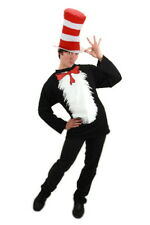 Dr. Seuss The Cat In The Hat Adult T-Shirt and Hat Costume Kit S/Med New Sealed