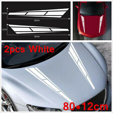 2pcs White DIY Accessories Hood Decal Sticker Graphics Decoration For Car SUV