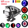 125W U7 Cree LED Oeil d'ange Motocycle Phare Projecteur Lampe de Brouillard Feux