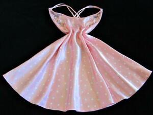 Victoria's Secret Bias-Cut Satin Chemise M Strappy Lacy Low Back Pink Polka Dot