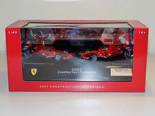 1/43 Mattell Hot Wheels F1 Constructors World Champion Ferrari F2007 2 CAR SET