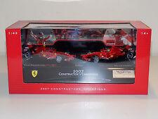 1/43 Mattell Hot Wheels F1 Constructors World Champion Ferrari F2007 2 CAR SET