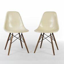 Par De Pergamino (2) Herman Miller Eames Dsw Comedor lado Shell Vintage Sillas