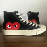 New Converse Commes des Garcon all star Chuck taylor hi tops 1970s CDG Black UK