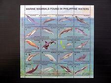 PHILIPPINES 1998 Fish Making Mammals Sheetlet of 20 U/M FP9661