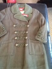 oilily coat olive green euro 104 girls 4/5 nwot $495
