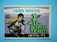 1971/72 O-PEE-CHEE NHL HOCKEY CARD #255 JOHN JOHNNY BUCYK AS EX/NM SHARP!! OPC