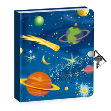 Secret Lock Key Journal Diary Boys Kids Writing Drawing Notebook Book Locking