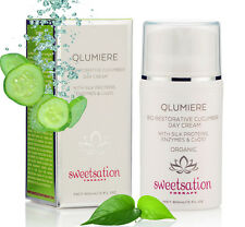 QLumiere Bio-Restorative Cucumber Day Creme w/Silk Proteins, Enzymes, CoQ10, 2oz