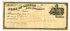 1903.   Salem,  State of Oregon Land Department    Issued Bank check.