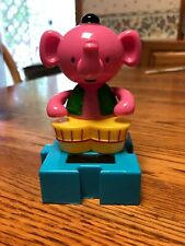New Solar Powered Dancing Toy Bobble Head Circus PINK ELEPHANT