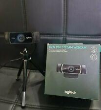Logitech C922 PRO HD Stream Webcam, Full HD Video Streaming, 1080p/ 30fps