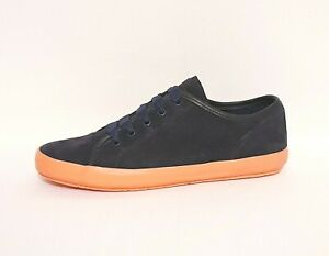 Camper Portol Supersoft RRP £105 Navy Blue Suede Leather Pumps Flat Shoes Womens
